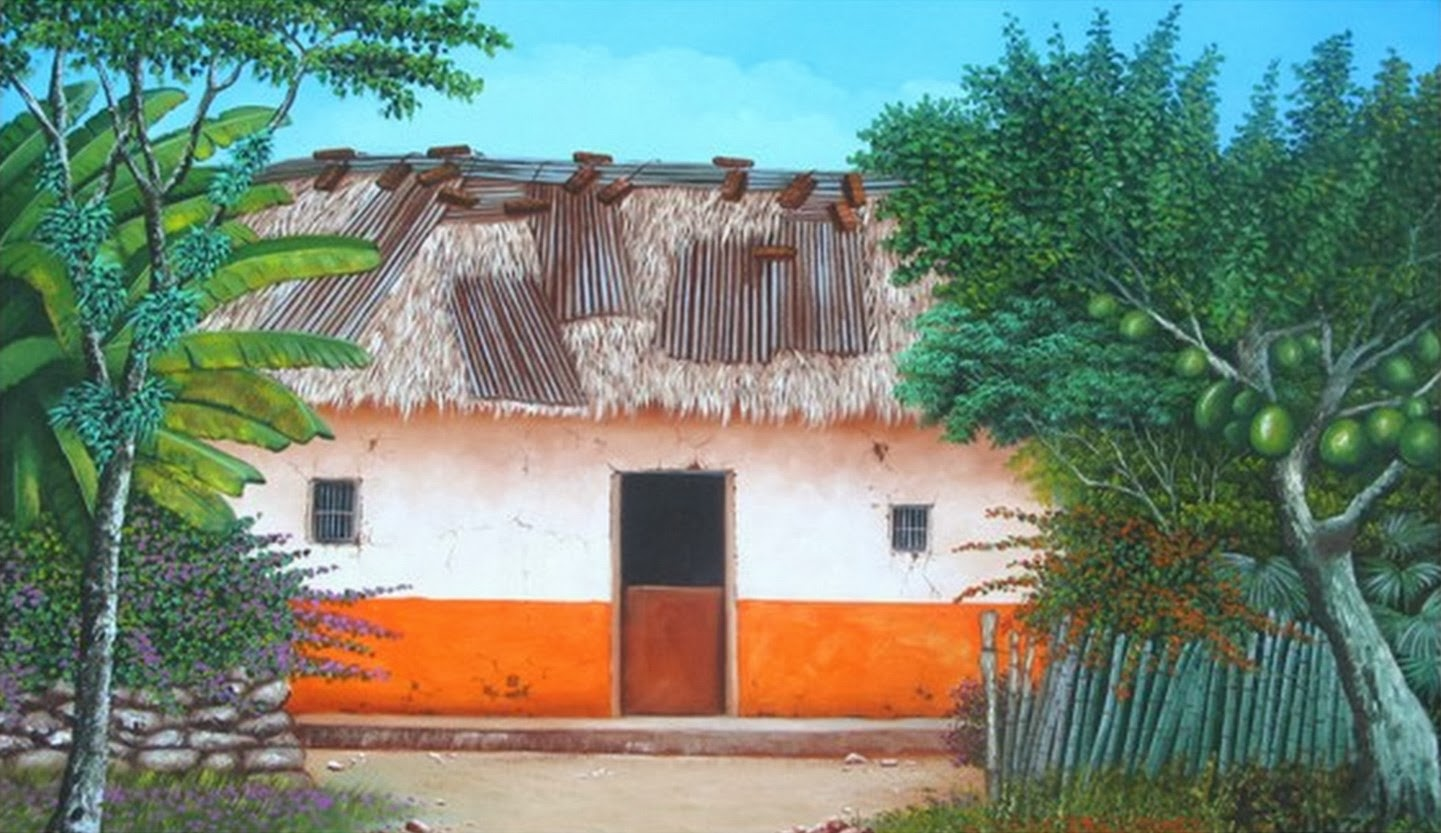 Cuadros modernos pinturas y dibujos pinturas de paisajes - Paisajes de casas ...