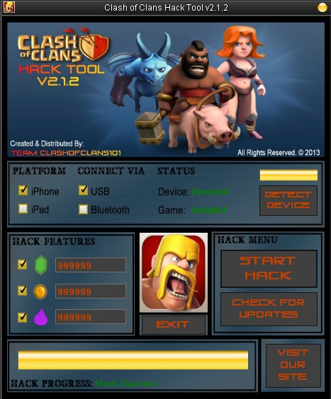 clash of clans hack tool v2 1 2 direct download features
