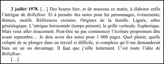 Extrait, Journal, Joyce Carol Oates.