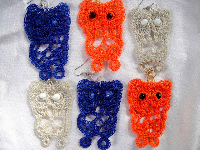 orecchini uncinetto - crochet earrings