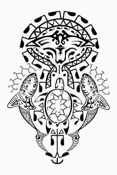 Полинезийские татуировки рыб маори