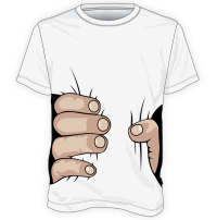 koszulka z ręką squeeze
