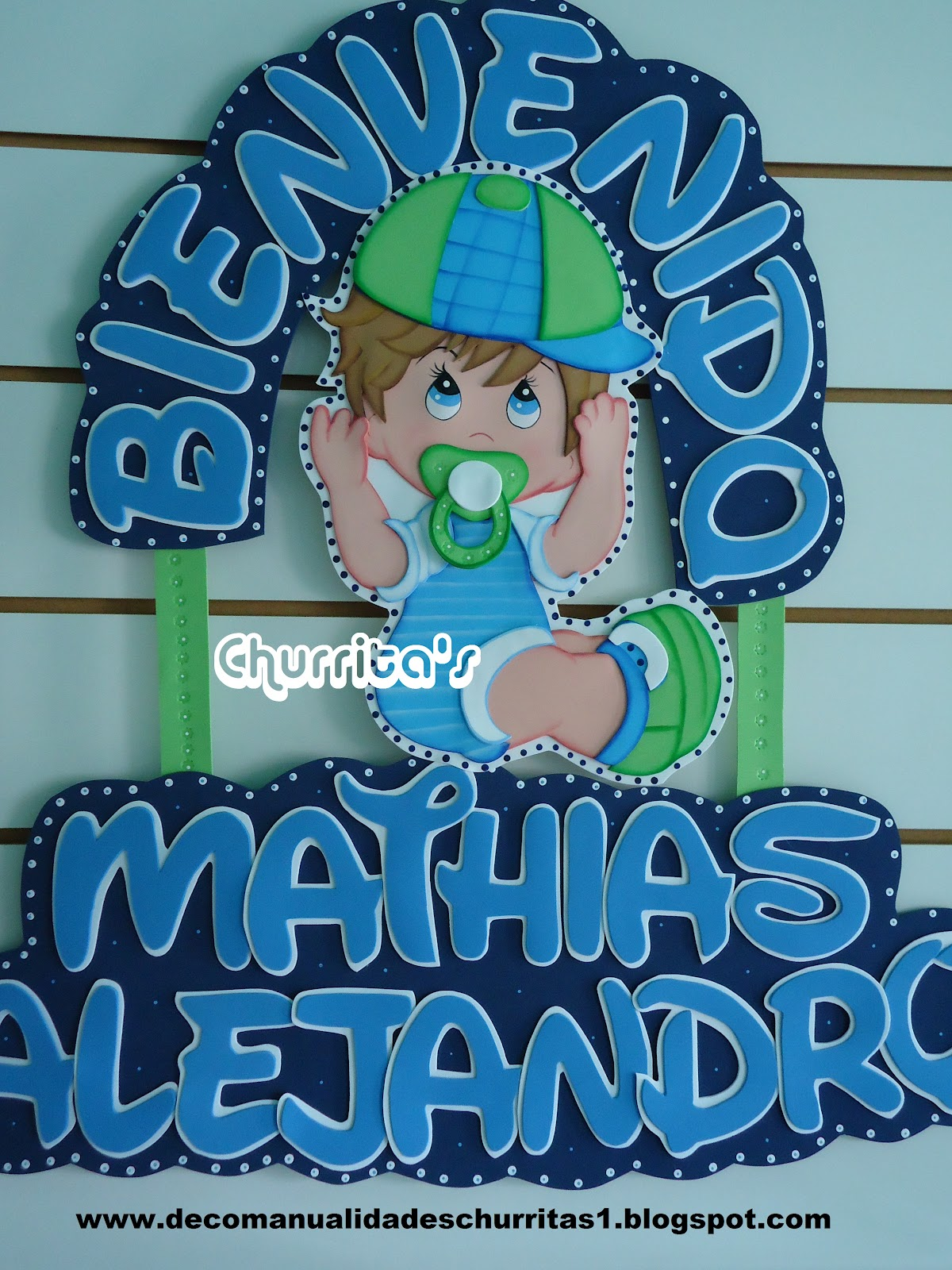 Letrero Baby Shower Para Ni  As Personalizado