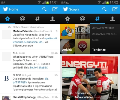 twitter client ufficiale android