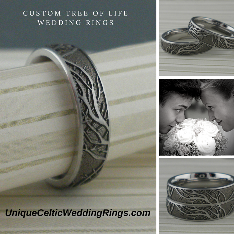 Life Of Lorin Our Wedding Tree: Unique Celtic Wedding Rings: Custom Celtic Tree Of Life