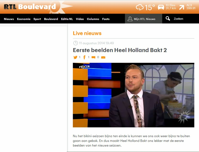 Heel Holland Bakt, Fleur Feijen, Food, The Great Britsch Bake Off, RTL boulevard, Foodblog, Bakken, TV,
