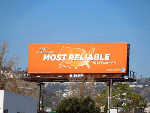 AT&T Most reliable network billboard