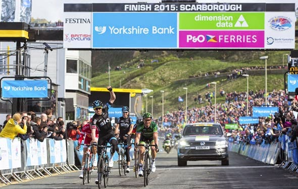 Tour De Yorkshire 2015 Stage One Finish in Scarborough