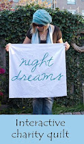 Interactive charity quilt