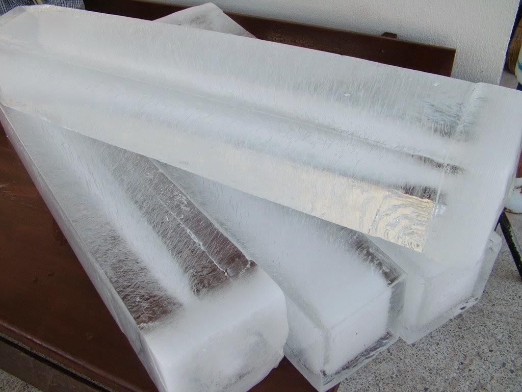 Producción de bloques de hielo