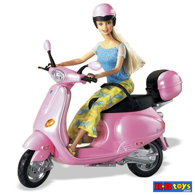 Barbie doll in Scooter