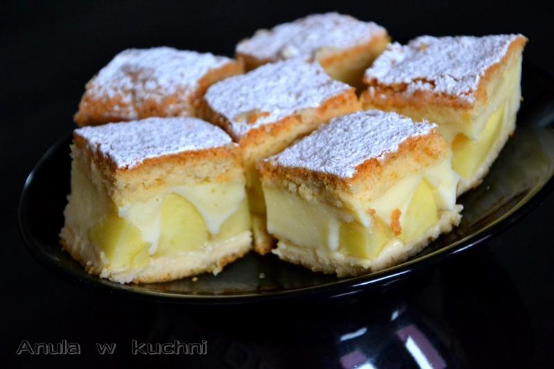Szybkie Ciasto z Jabłkami i Budyniem Ciasto z Jabłkami i Budyniem