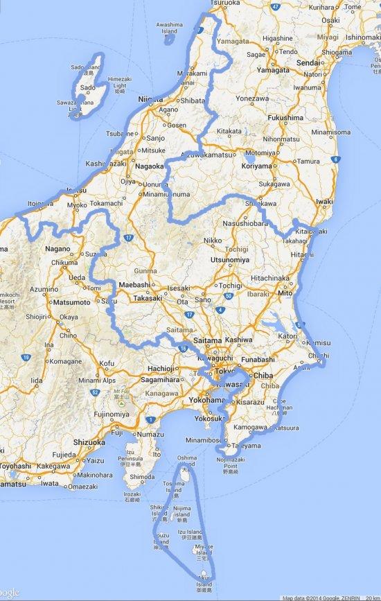 Japan Tokyo Misson Map