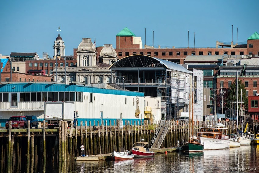 Portland, Maine July 2014 new construction Maine Wharf photo by Corey Templeton