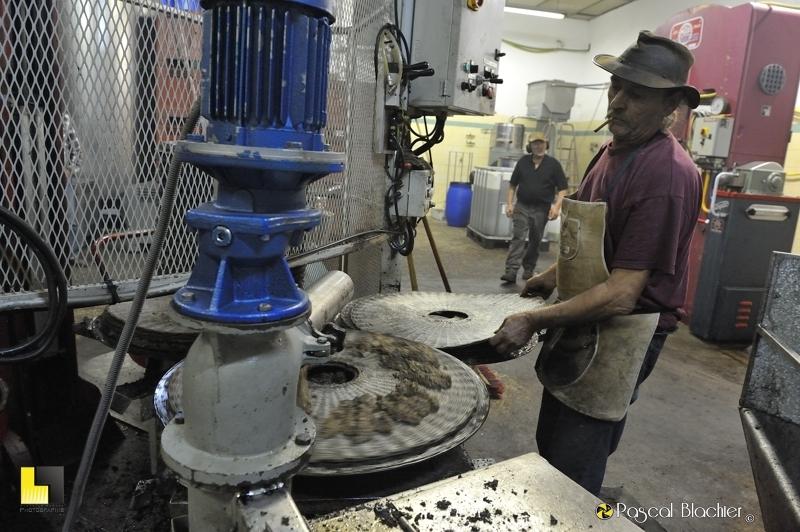 remplissage des scourtins de pâte d'olive photo blachier pascal