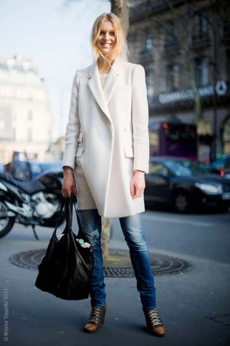 winter coat white