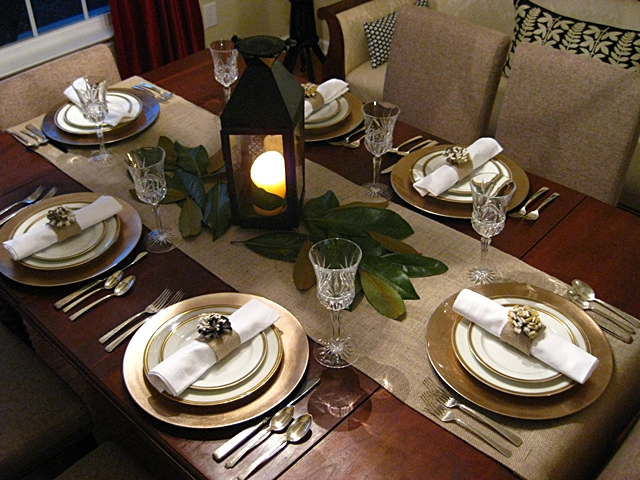 I really love how it turned out. We found these goldish color chargers at Michael\u0027s today for only $1.50 each! I was so excited! & Eat. Sleep. Decorate.: Easy Elegant Thanksgiving Table