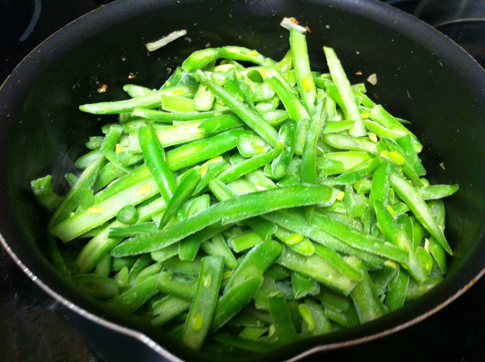 Good Food Recipes: French style green beans in Indian style