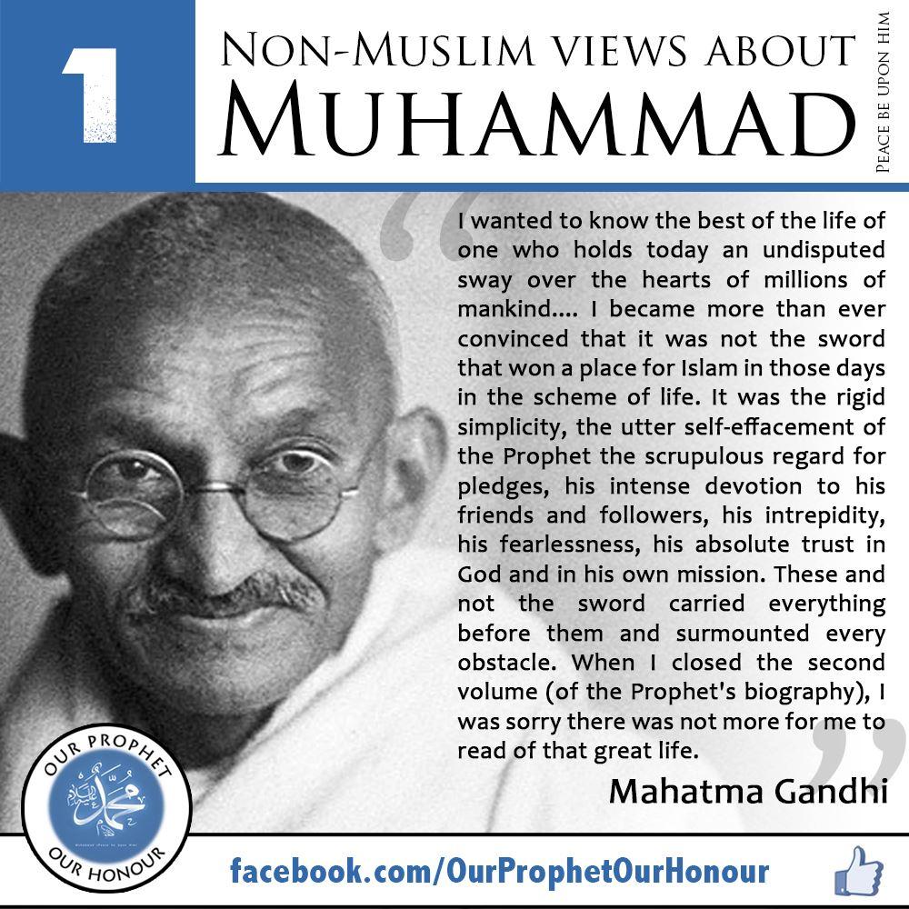 Our prophet our honour quot what non muslims say about prophet muhammad