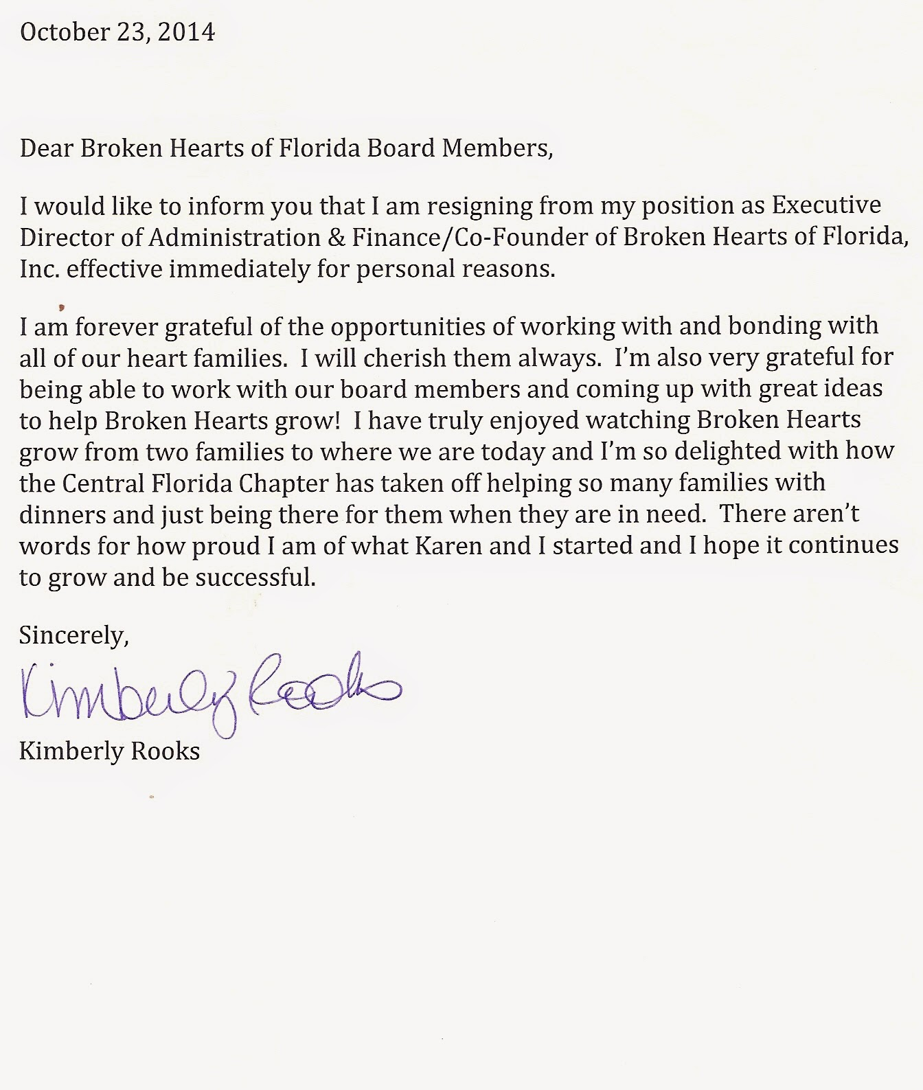 resignation letter board resignation letter
