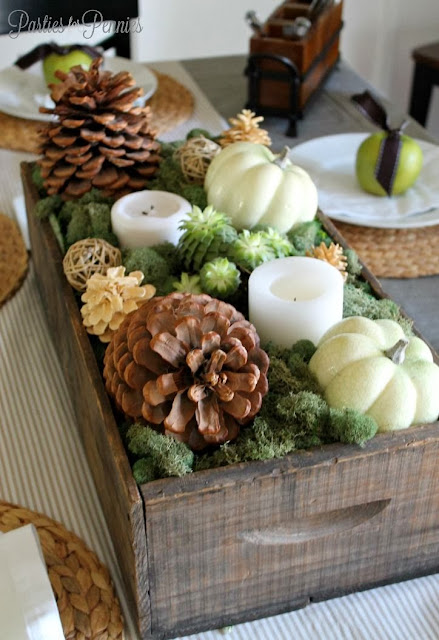 planter box thanksgiving decor