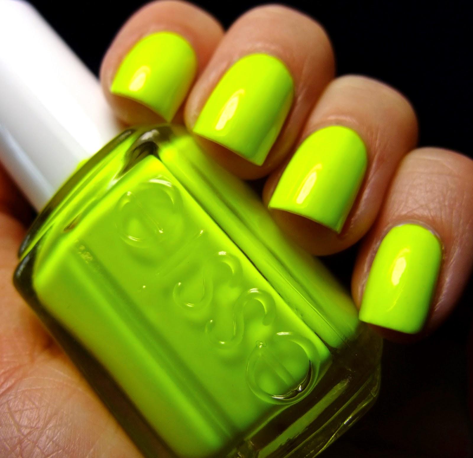 nail designs bright green ~ bright green nails