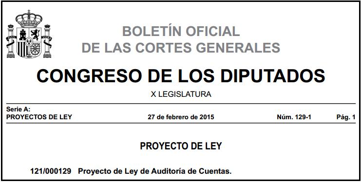 PLAC Proyecto de Ley de Auditoría de Cuentas