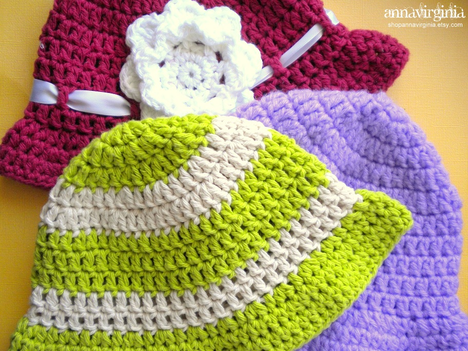 Free Crochet Patterns Baby Swaddlers : AnnaVirginia Fashion: Summer Sun Hat *Pattern*