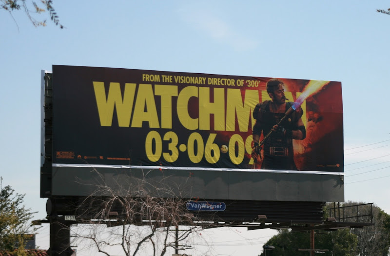 The Comedian Watchmen billboard