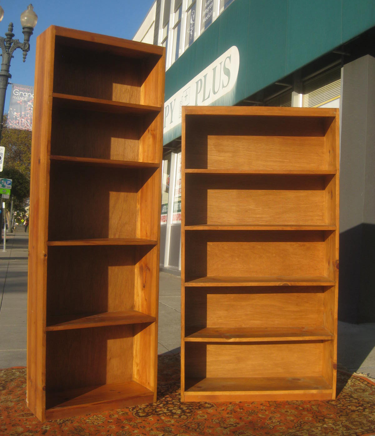 & COLLECTIBLES: SOLD  Pine Bookshelves  Tall $90. Short $80 1200 x 1392