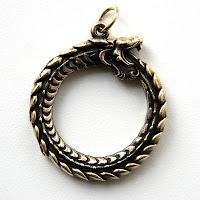 кулон уроборос змей купить бронза латунь украина