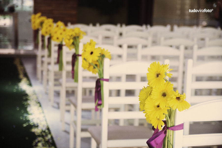 decoracao de casamento na igreja azul e amarelo:Decoracao De Casamento Em Amarelo