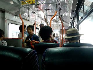 「海洋研究開発機構」行きバス内