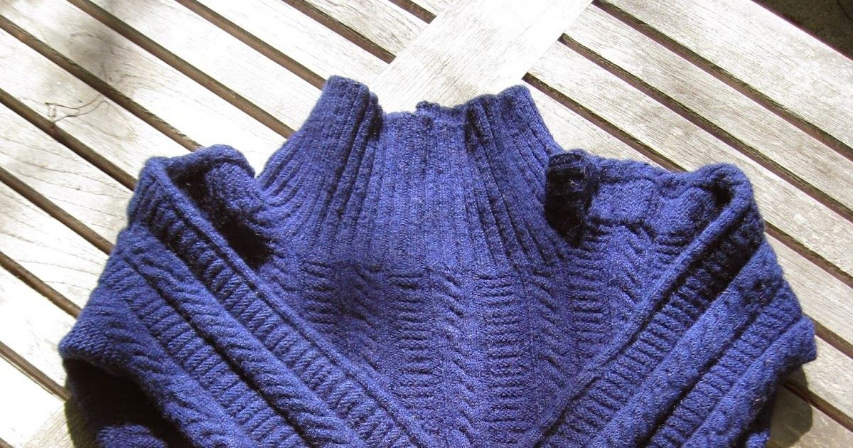 Knit Up Stitches Around Neckline : A Fisherman Knits: The 9 day gansey