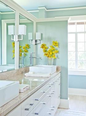 baño color turquesa