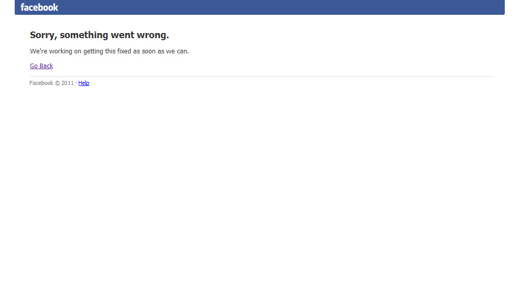 facebook sorry something went wrong