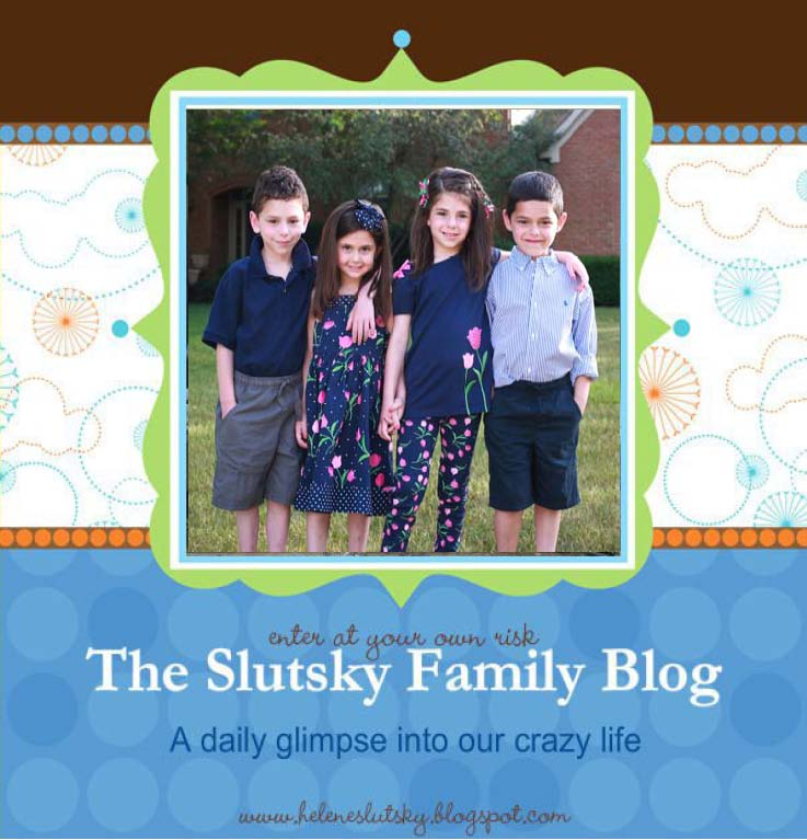 The Silly Slutsky Family Blog