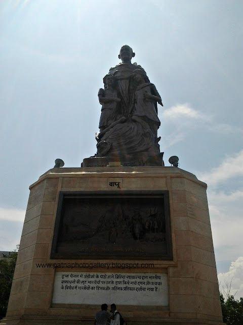 Gandhi statue - front view