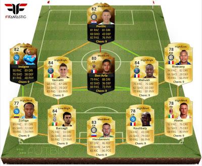 Híbrido Perisic IF Ben Arfa IF FIFA 16 Ultimate Team, híbrido Serie A Ligue 1 FUT 16