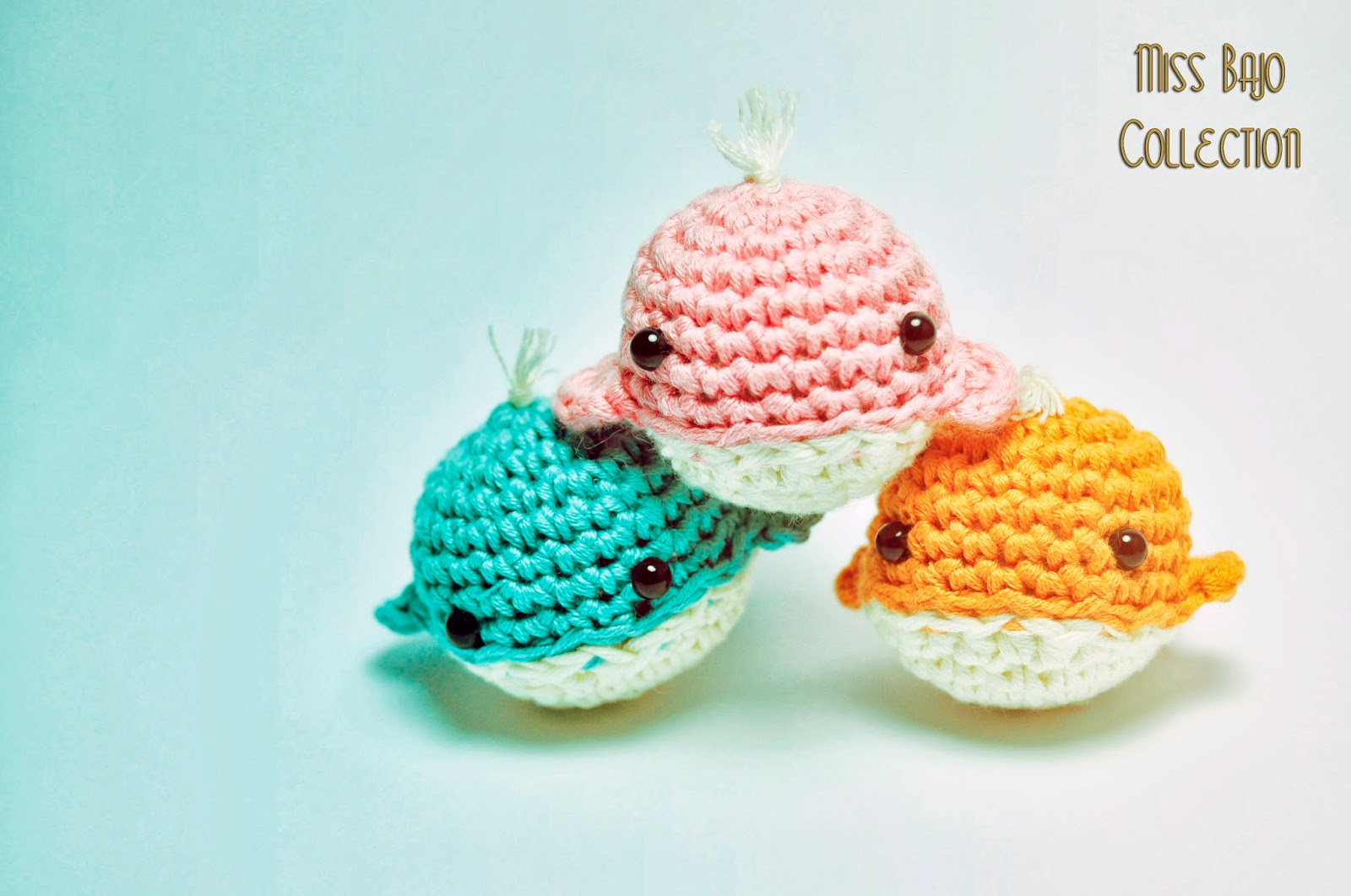 Ballena de amigurumi Miss Bajo Collection