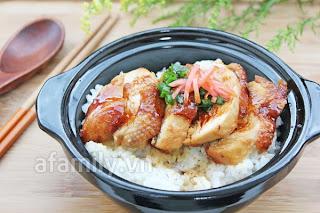 Cơm gà kiểu Nhật ngon hết ý