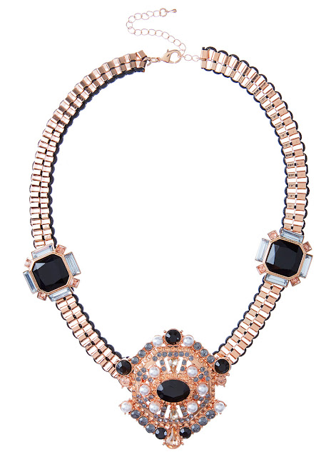 rose gold deco necklace