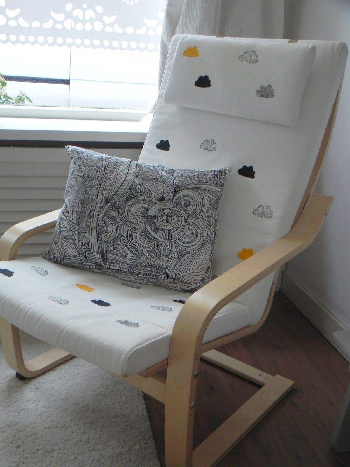 Home stamped ikea chair