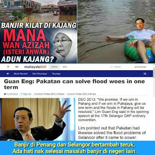 Banjir: Masalah tempat sendiri tak boleh selesai, Pakatun DAP nak selesai masalah banjir negeri lain