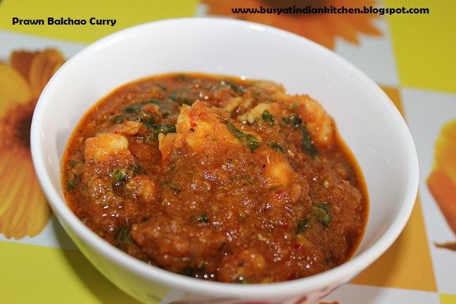 prawn balchao curry