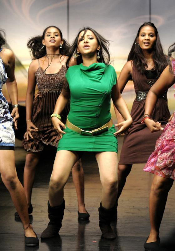 Swetha Basu Hot Pics from Item Song - Green Dress