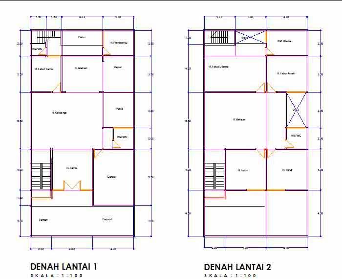 Sketsa Rumah Minimalis Keren | Desain Rumah Minimalis