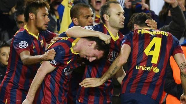 برشلونة الى ربع نهائي دوري الابطال من بوابة مان سيتي