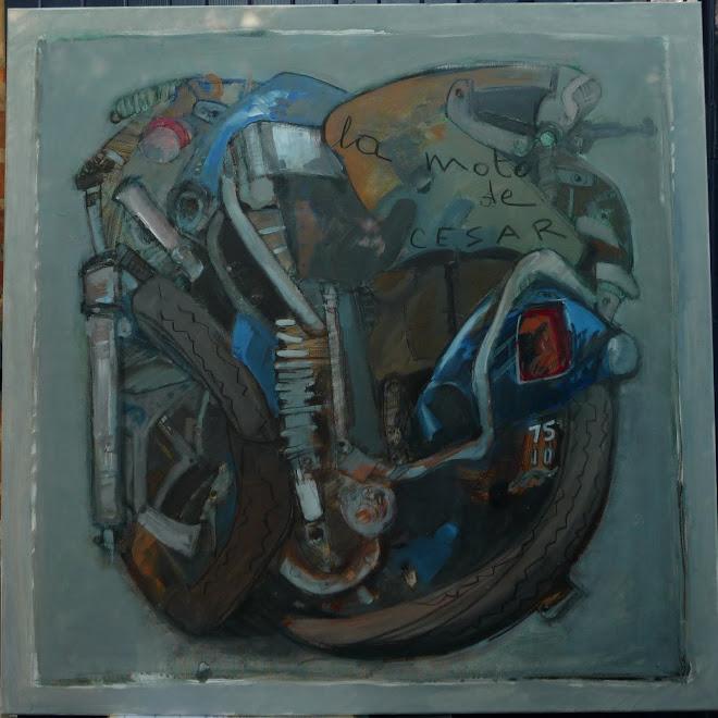 la moto de cesar    100X100cm