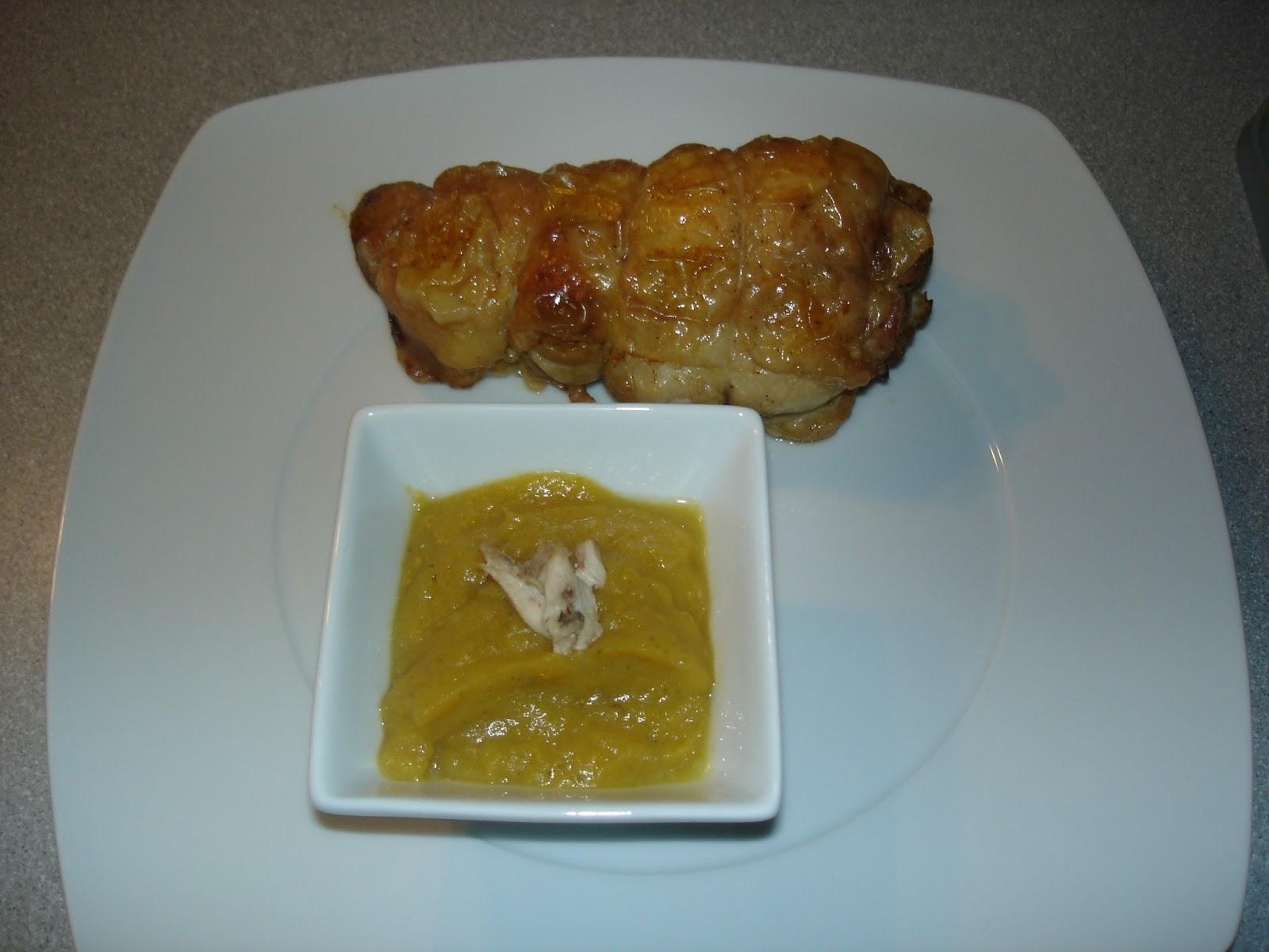 Cocina y viaje con carmen pollo releno con crema de calabaza - Cocina con carmen ...